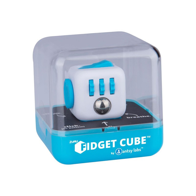 zuru 861 4554 fidget cube by antsy labs aqua das original. Black Bedroom Furniture Sets. Home Design Ideas