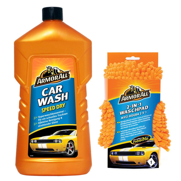 ARMOR ALL Car Wash Speed Dry 1.000 ml + 2 in 1 Wash Pad