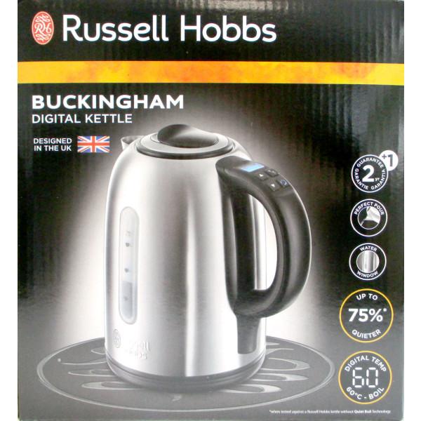 Russell Hobbs 21040-70 Wasserkocher Buckingham mit Temperaturwahl 1,7 Liter